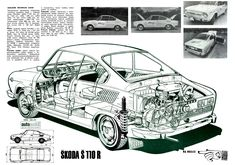Skoda S110R 1971 :: Fotkica.com Bus Engine, Old Cars, Land Cruiser, Cars And Motorcycles, Mustang, Transportation, Engineering, Cutaway, Retro