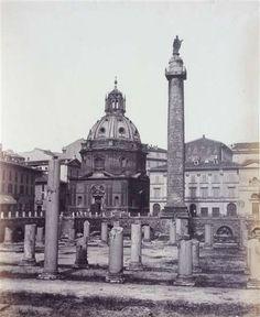 """1862 circa autore non identificato """"A"""" . Foro Traiano"""