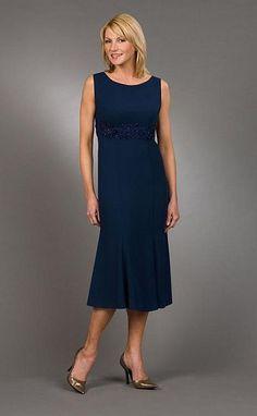 Mother+Of+The+Bride+Dresses+Tea+Length | Ursula Tea Length Mother of the Bride Dress 13988T image