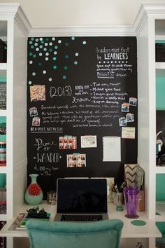 Teen Bedroom Chalkboard Wall