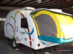 r-pod camper trailer.  We finally got one and it's in the back yard.  Now, where to go?