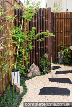 A stone pathway in an authentic Japanese garden from Kihara Landscapes.