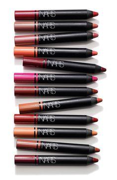 NARS Satin Lip Pencils, a NARS Classic. High-impact color with a rich satin finish Aren't you excited about the NEW Lip Pencil Coffret Holiday Set? Lip Makeup, Makeup Tips, Beauty Makeup, Witch Makeup, Scary Makeup, Clown Makeup, Glitter Makeup, Costume Makeup, Makeup Ideas