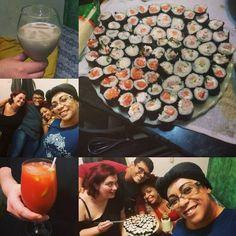 Noite de despedida  #sushi #bloodymary #whiterussian