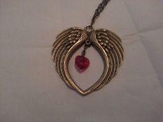 Steampunk Swarovski Angel Wing Necklace by MsRetroDesigns on Etsy, £11.99