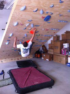 Garage bouldering wall