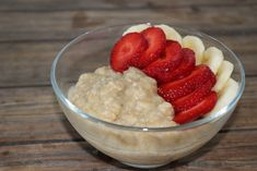 Porridge au beurre de cacahuètes MyProtein Nutella, Desserts Sains, Raspberry, Strawberry, Pudding, Healthy Recipes, Fruit, Food, Waves