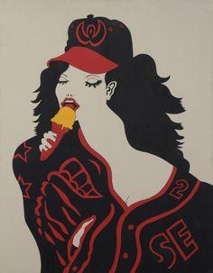 Karl Wirsum, Baseball Girl, 1964. © The artist. Collection Ruth Horwich.
