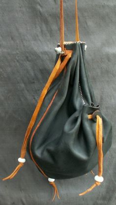 Draw String Purse with Side Pockets
