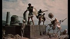 "Jason and his argonauts battle the Army of the Dragon's Teeth, from ""Jason and the Argonauts"" (1963); Ray Harryhausen's masterpiece."