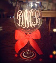 Personalized Monogram Wineglass
