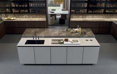 Alea Kitchen Cabinetry by Poliform - Switch Modern Bespoke Kitchens, Luxury Kitchens, Cocinas Kitchen, Ideas Hogar, European Furniture, Kitchen Models, Kitchen Cabinetry, Kitchen Appliances, Modern Interior Design