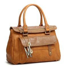 Bolsa caramelo Macadamia estilo maleta com divisórias internas. Loja virtual www.notore.com.br