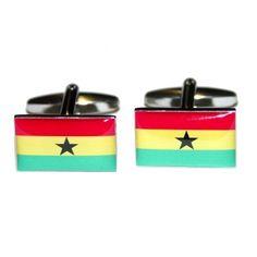 Manchetknopen Ghanese Vlag
