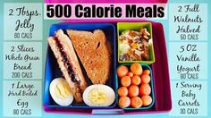 500 calorie meals @Taralynn McNitt (Undressed Skeleton)