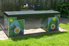 tuinbank mozaiek