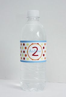 Elmo inspired Waterproof Water bottle labels. Lots of colors and styles.
