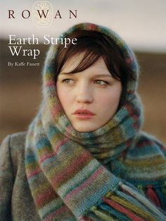 Earth Stripe Wrap - free Kaffe Fassett pattern on the Rowan website - others available here too