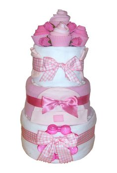 Cupcake Nappy Cake Baby Girl    http://www.giftsdirect.com/gift-type/hampers-food-baskets/