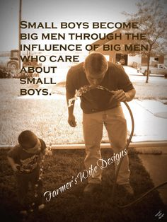 Farmer and son small boys quote sepia father by FarmersWifeDesigns,