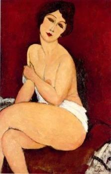 Nu Assis sur un Divan, 1917 | Amedeo Modigliani | Private collection