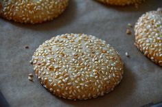 If there is one cookie I want to eat every single day, it's my crunchy sesame seed cookies. Lebanese Cuisine, Lebanese Recipes, Lebanese Desserts, Arabic Sweets, Arabic Food, Arabic Dessert, Sesame Cookies, Middle Eastern Recipes, Mediterranean Recipes