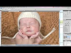 Great Photoshop tutorial on how to merge two photos for newborn photography