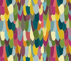 harlequin feather fabric by scrummy on Spoonflower - custom fabric | bedroom shams or curtain panels