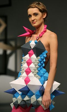 Polish students created clothes made from paper
