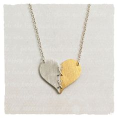 Gold and Silver Heart necklace - really lovely.