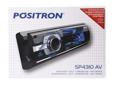 """DVD Automotivo Pósitron SP4310 Tela 3"""" - Entrada USB e Auxiliar com as melhores condições você encontra no Magazine Valdezimneto. Confira!"""