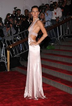 Gisele Bündchen: Gisele Bündchen went with a soft-hued cutout Versace gown in 2008.