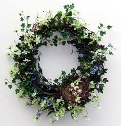 Wildflowers Ivy Wreath and Bird Nest for summer wreath.  Probably without the bird nest.