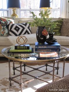 My Five Favorites - Decorative Accessories: touch of black, greenery, texture. http://simpledetailsblog.blogspot.com/2016/02/my-five-favorites-decorative-accessories.html