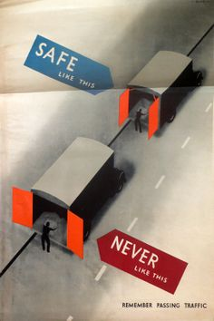1946  ROSPA SAFETY POSTER