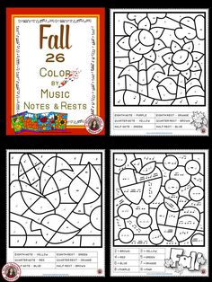 Music sub lessons  |   26 coloring pages consist of 24 coloring pages and 2 templates for the students (or you the teacher) to create their own Music Symbol    ♫  CLICK through to preview the whole set or save for later!   ♫   #musiceducation   #elmused
