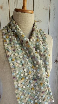 """""""Point a la ligne """"  small scarf by Sophie Digard"""