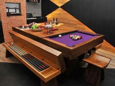 A pool table table-