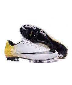 buy online 4d2f5 fa95f Nike Mercurial Vapor X CR7 AG 324K Gold Fußballschuhe - weiß Gold Schwarz