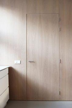 flush wood door