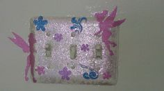 Tinkerbell room light switch cover, easy to decorate with stickers and paint!!