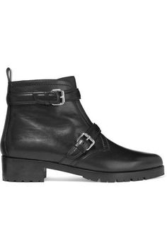 Tabitha Simmons - Aggy Buckled Leather Biker Boots - Black - IT36.5