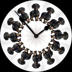 Black & Tan Dachshund Wall Clock