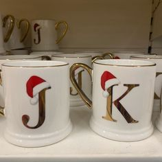 Love these cute Christmassy mugs from Tesco! They had glasses too! Tesco Christmas, Santa Christmas, Home Hacks, Diy Hacks, Girl Tips, Quizzes, Free Gifts, Initials, Sweet Home