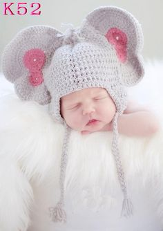 Cute Costumes Baby Clothing Photography Props Elephant Handmade Crochet Hats Unisex Toddler Beanie Caps Hats Newborns - 6 years. Yesterday's price: US $9.50 (7.72 EUR). Today's price: US $4.75 (3.87 EUR). Discount: 50%.