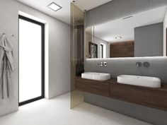 Luxury bathroom in a minimalist style with dark-wood elements O Design, Interior Design, Minimalist Fashion, Minimalist Style, Bathroom Inspiration, Bathroom Ideas, Dark Wood, Modern Bathroom, Chloe