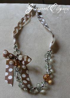 Beaded Ribbon Necklace Tutorial