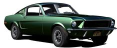 1968 Mustang GT 390 Fastback aka Bullitt has always been my fav car and green, oh yea! 1968 Mustang Gt, Ford Mustang, Car Illustration, Illustrations, Car Posters, Automotive Art, Car Ford, Vintage Cars, Classic Cars