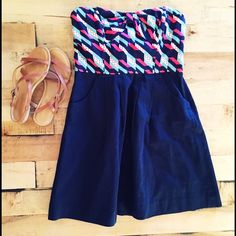 Anthropologie dress Love love love this dress! Anthropologie size 2 ❤️ Anthropologie Dresses Strapless