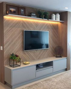 Amazing Modern TV Wall Decor Idea for Living Room Design Look Luxury Tv Unit Decor, Tv Wall Decor, Wall Tv, Tv Wall Panel, Led Panel, Wood Wall, Tv Wall Design, House Design, Tv Cabinet Design Modern